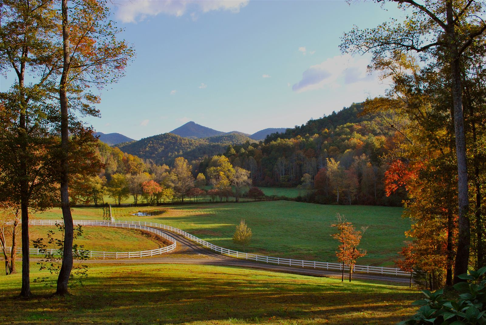 PHOTO CREDIT:  Farm setting in the mountains of Rabun County, Clayton, GA, approximately a two-hour drive from Clayton County. This land is part of  Leaptrott House , currently listed on  Reel-Scout's film location library . Leaptrott House is available for rent for filming.