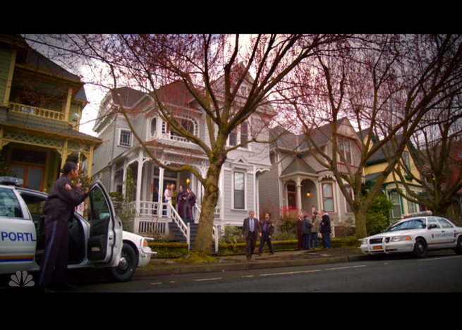 PHOTO CREDIT: Above photo is a screenshot from Grimm's pilot episode, filmed on location in a residential neighborhood in Portland.