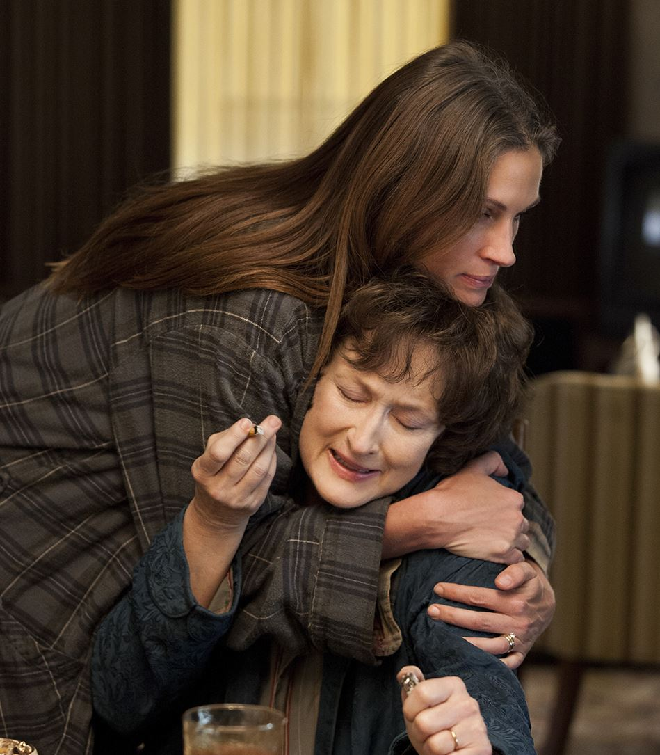 PHOTO  CREDITS:  Production still of Meryl Streep and Julia Roberts in AUGUST: OSAGE COUNTY - via  Google .