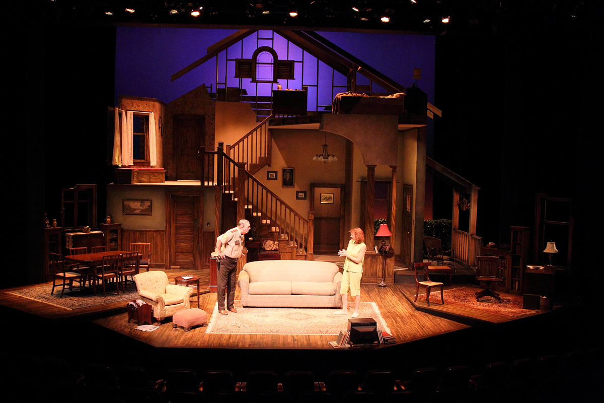 PHOTO CREDIT:  On-the-set still photo of the play AUGUST: OSAGE COUNTY (performed at The Curran Theater in San Francisco, California) - via  Google .