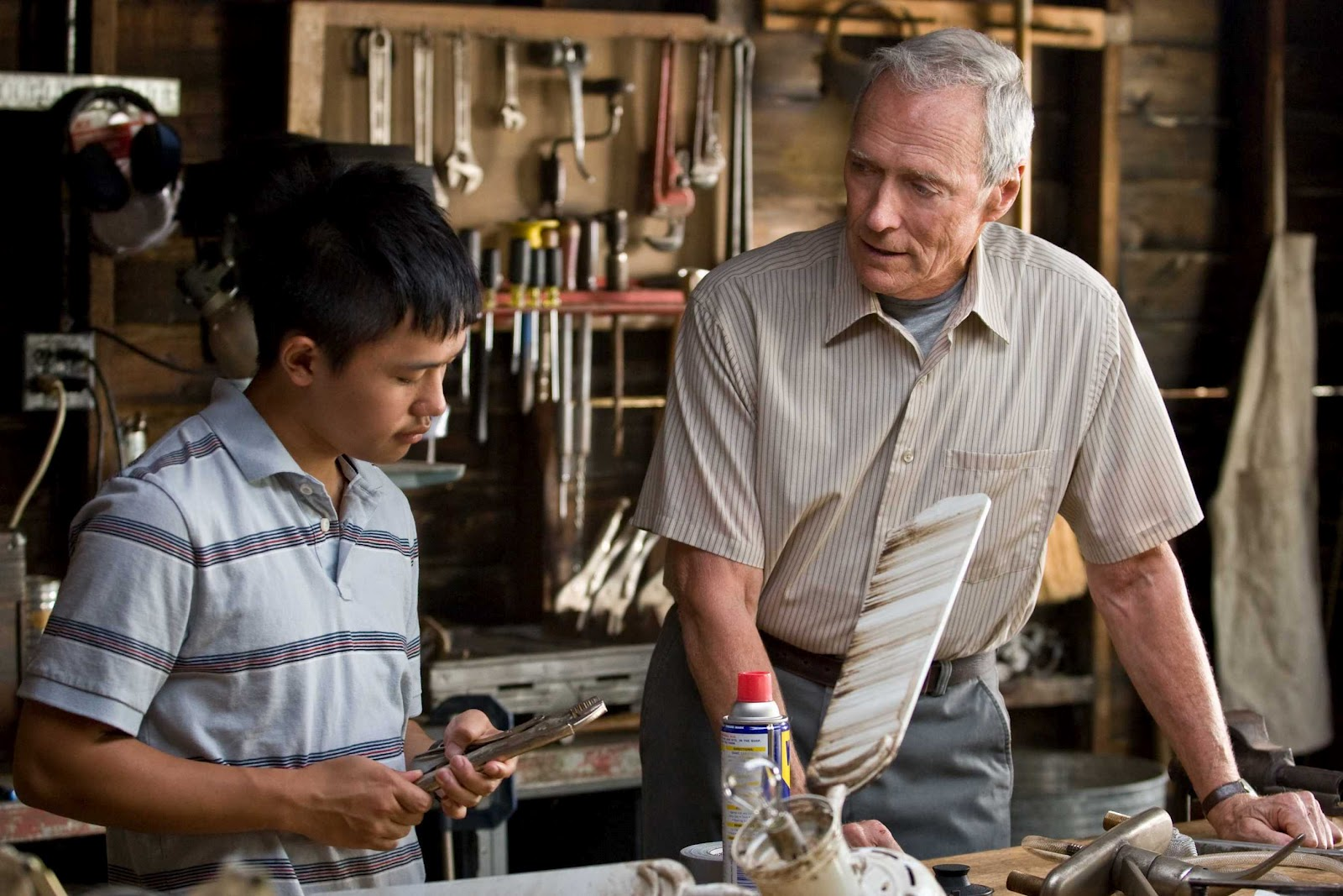 Production still of Clint Eastwood's Gran Torino via  Google .