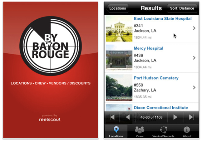 By Baton Rouge iPhone app.