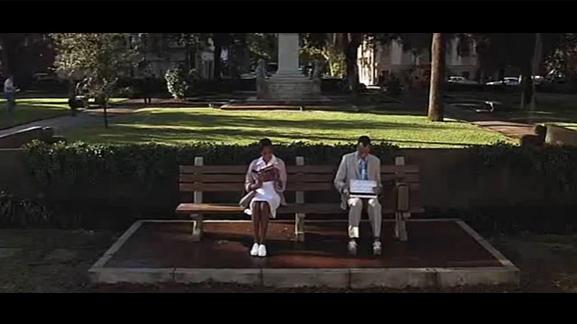 Screenshot from  Forrest Gump.