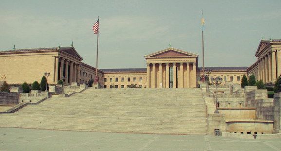 """Photo of the Philadelphia Museum of Art and the """"Rocky Steps"""" is from here ."""