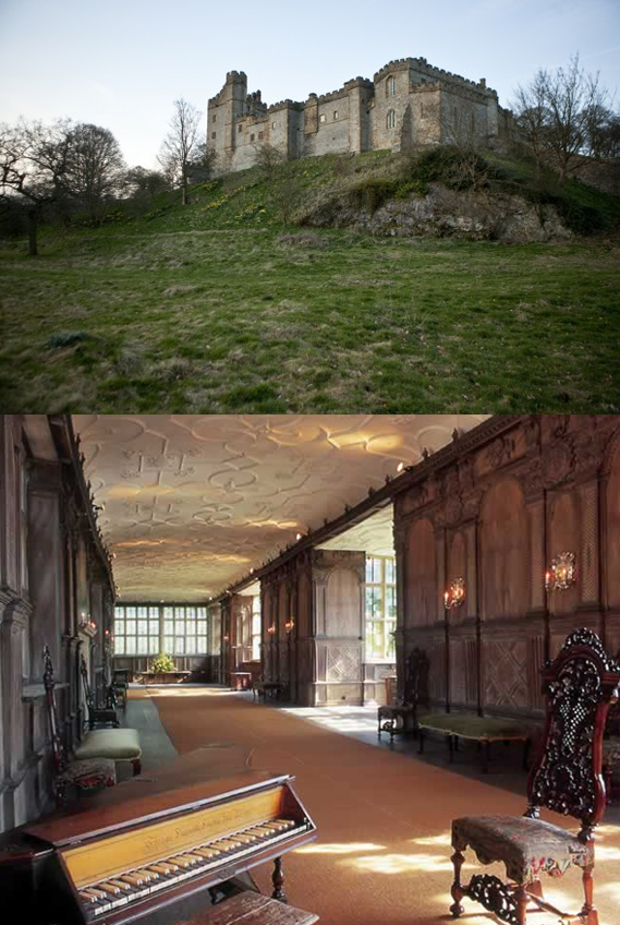 Photos of Thornfield Hall via  Google .