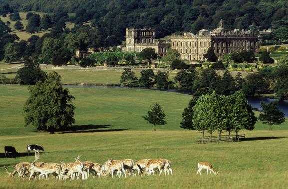 Photo of Chatsworth House via  Google .