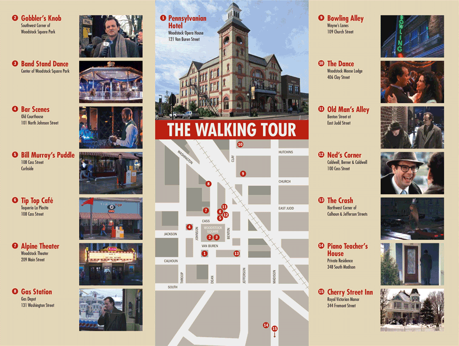 The Groundhog Day walking tour via  Google .