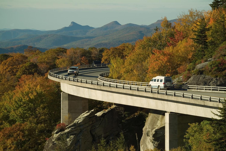 Image of Blue Ridge Parkway via  Google .