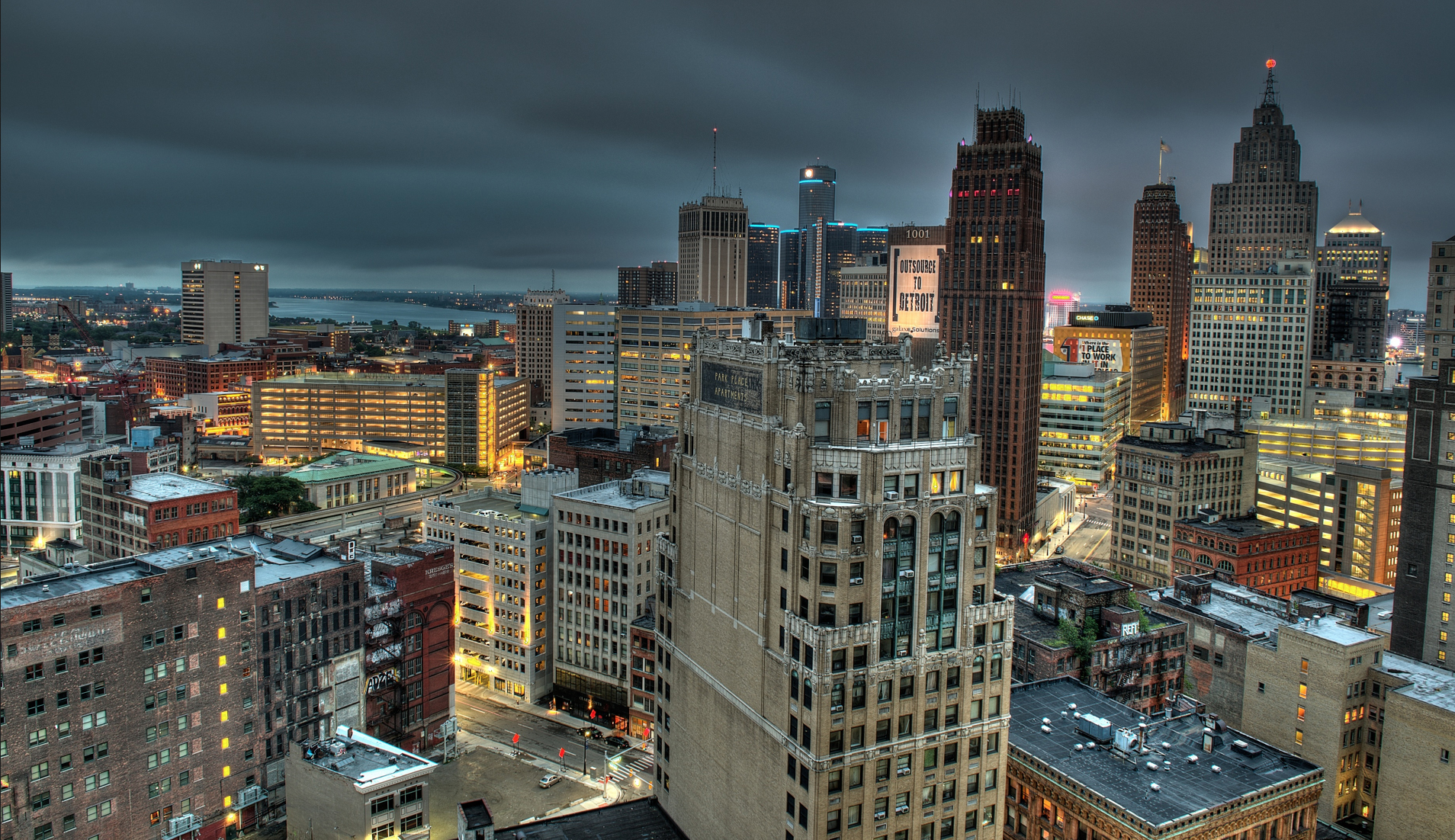 """The iconic Detroit skyline is beautifully featured in this photograph titled """"Hello Detroit""""- by photographer  Jennifer Ferris ."""