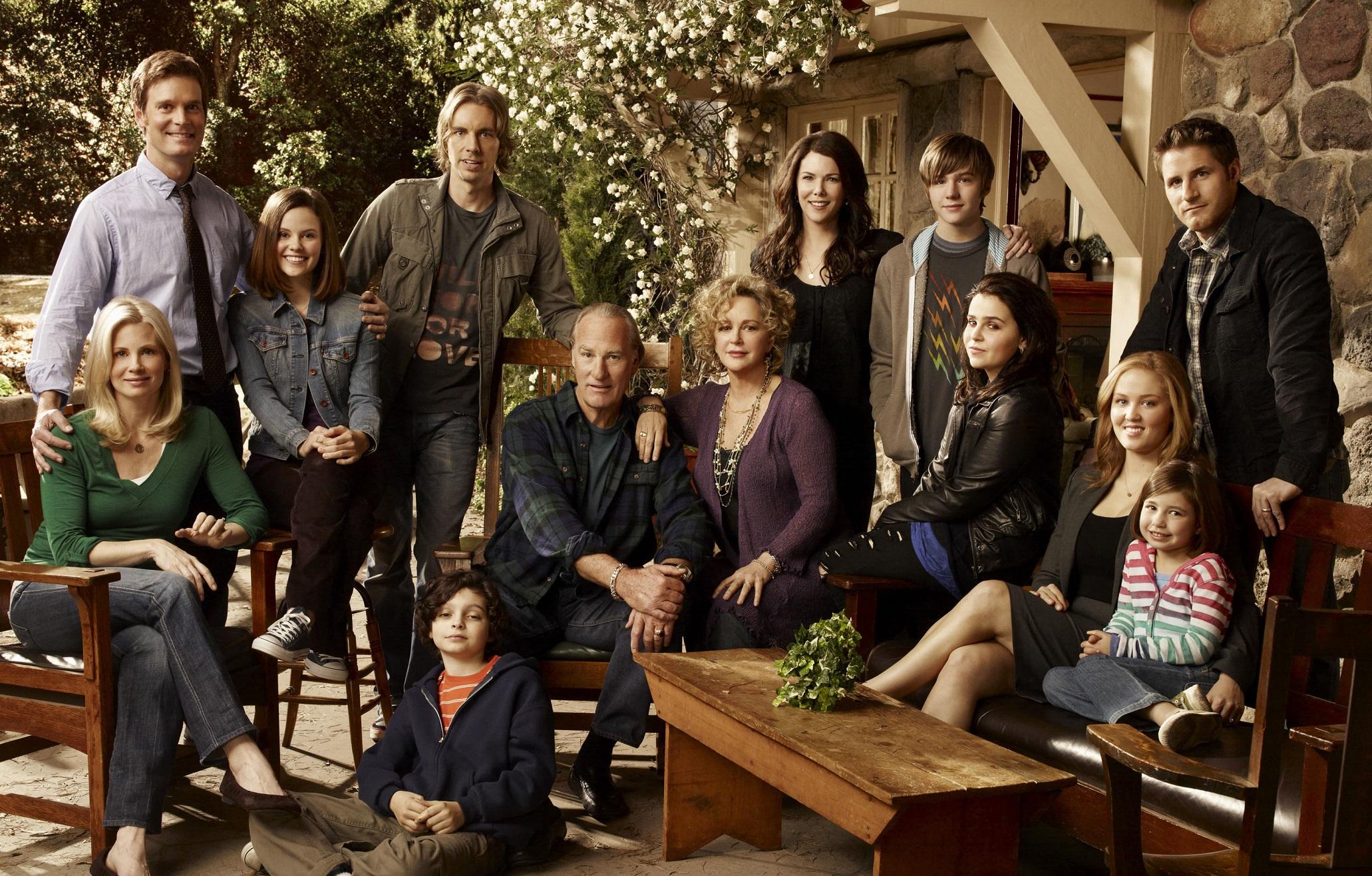 Lauren Graham and the cast of NBC's  Parenthood -  image via  Google .