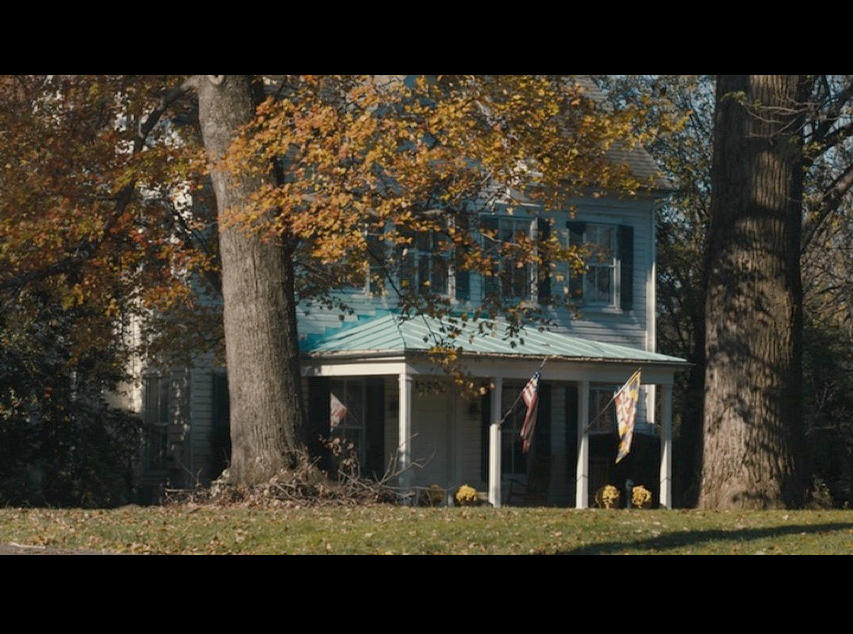 Screenshot from  Philomena  of Peter Olsson's house (the Conways' house in Potomac, Maryland - in real life).