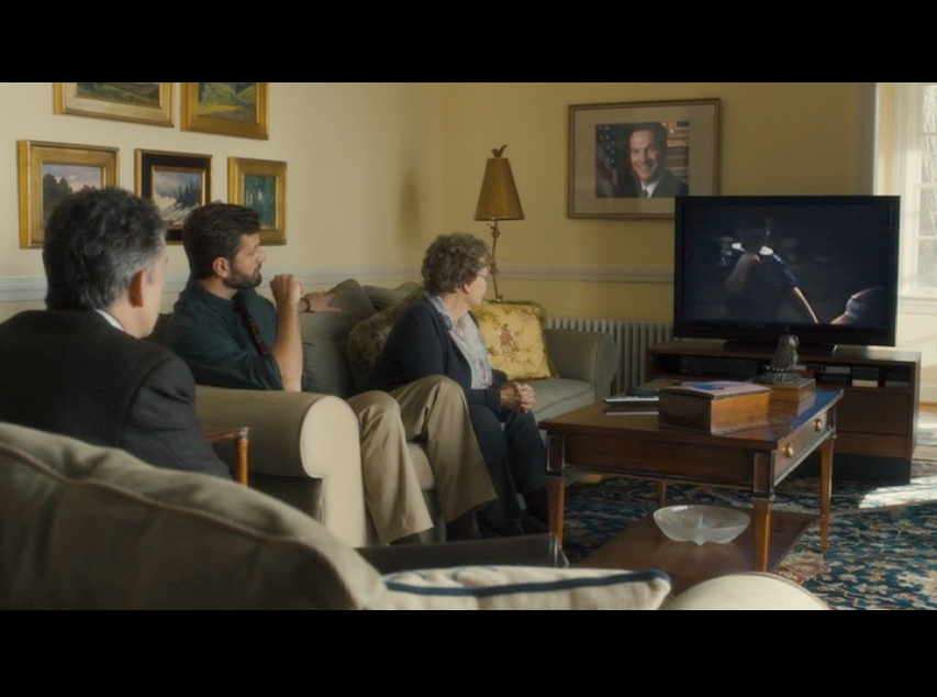 Screenshot of a scene at Peter Olsson's house - the Conways' Potomac, Maryland house in real life.