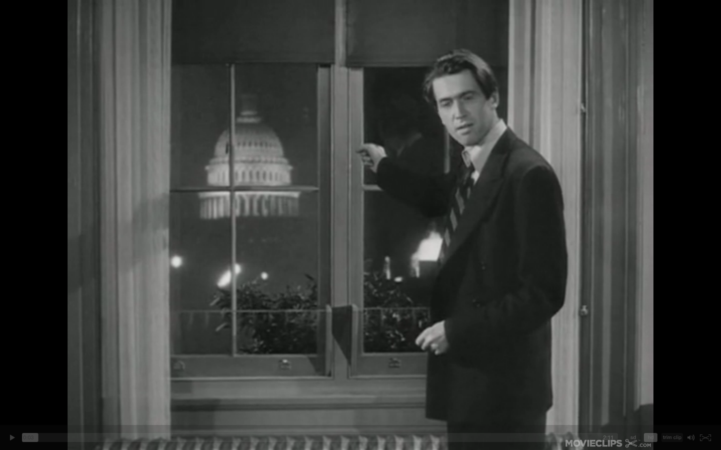 Screenshot from  Mr. Smith Goes to Washington .