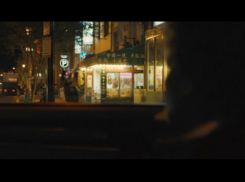 Screenshot from  Philomena  of a scene filmed in front of Chinatown Express Restaurant in Washington, D.C.