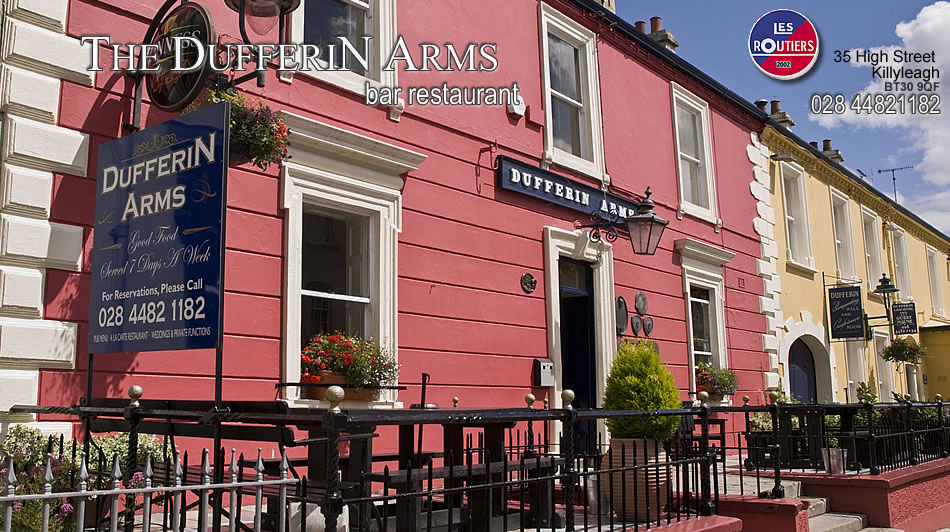 The Dufferin Arms Pub in Killyleagh, County Down - one of  Philomena 's film locations in Northern Ireland - image via  The Dufferin Arms' website .