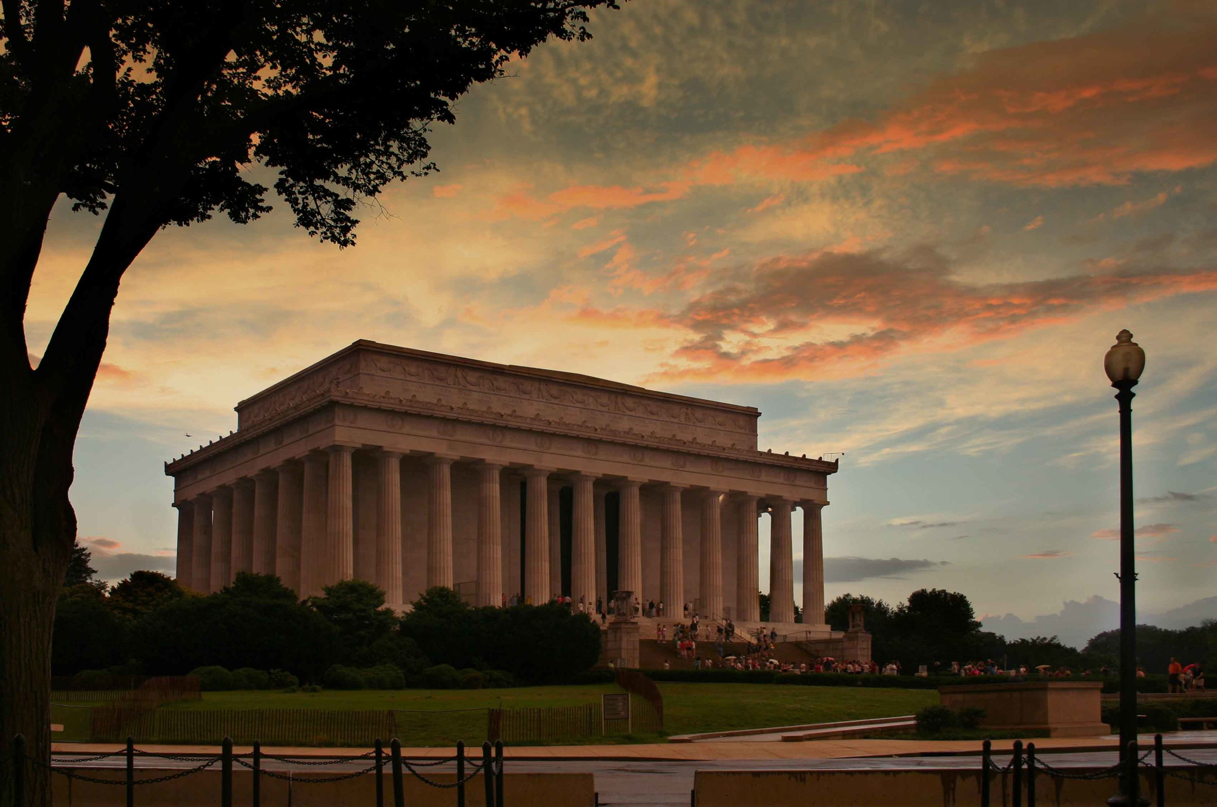 The Lincoln Memorial - image via  Google .