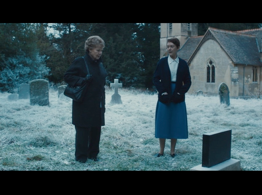 Spoiler alert - in case you haven't seen the movie. Here's a screenshot of the cemetery scene from  Philomena , filmed at Shirburn Castle.