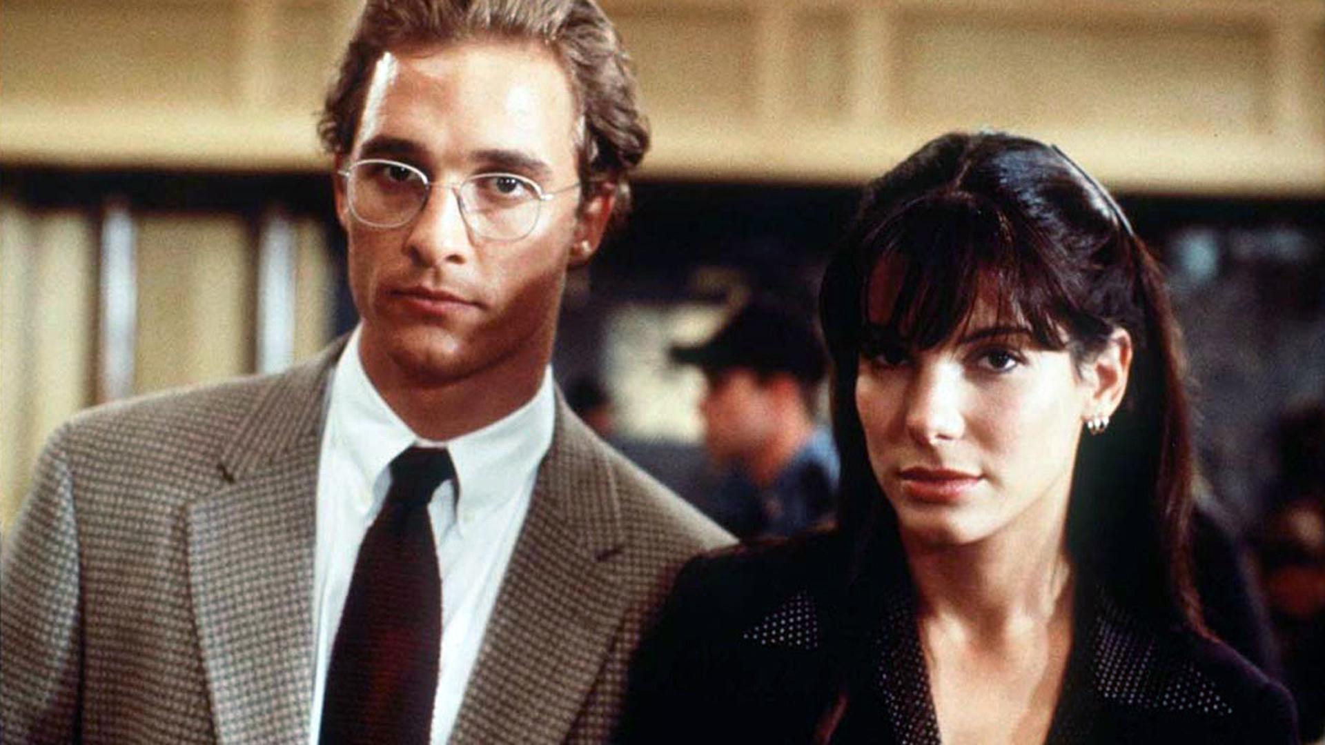 Matthew McConaughey     and Sandra Bullock in  A Time to Kill , filmed in Mississippi - image via  Google .