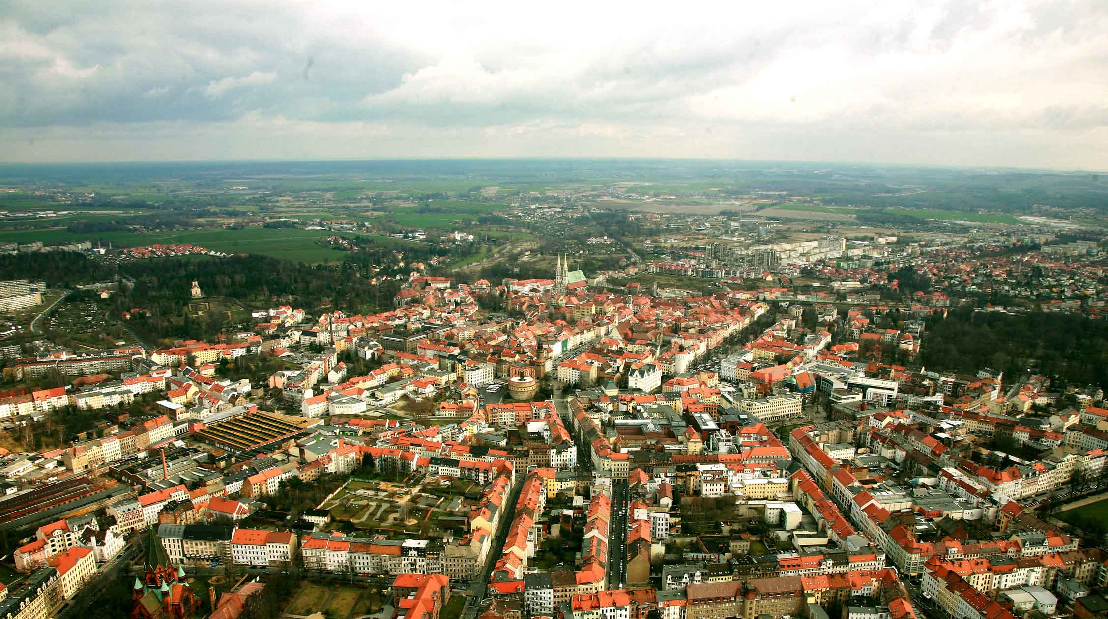 An aerial view of the beautiful, historical town of Görlitz, Germany. Image via  Google .