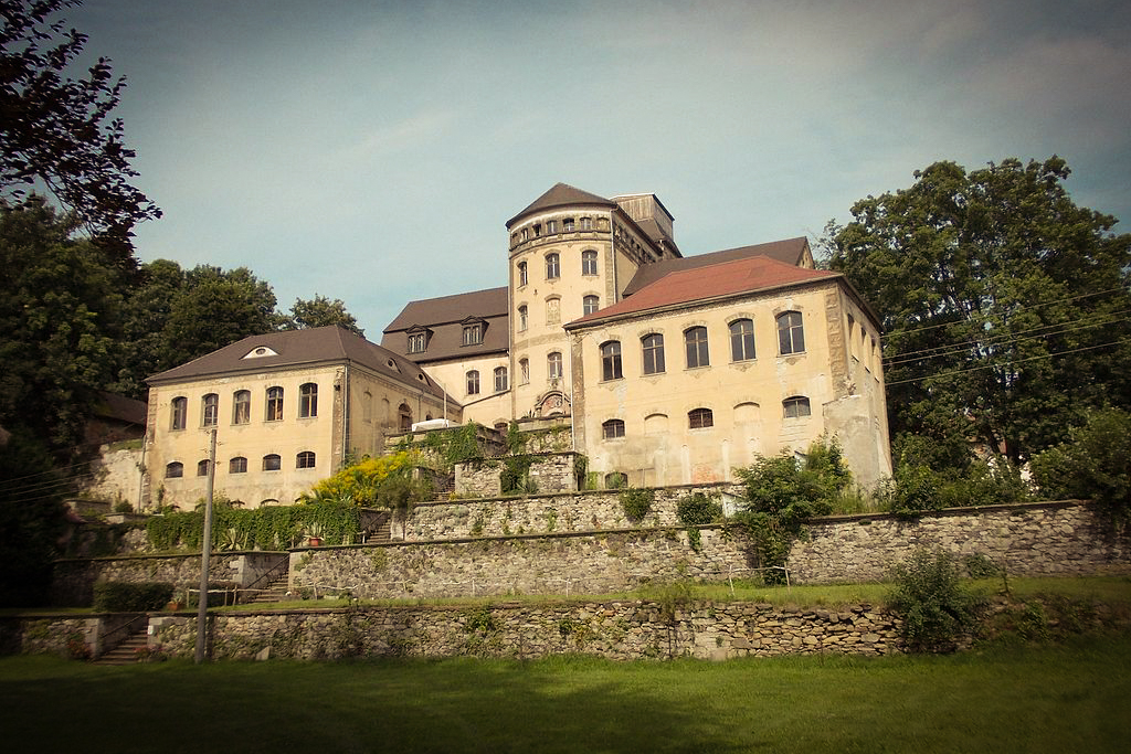 18th Century Castle Hainewalde on the bank of the River Mandau in Saxony was the film location for the exterior of Madame D.'s estate