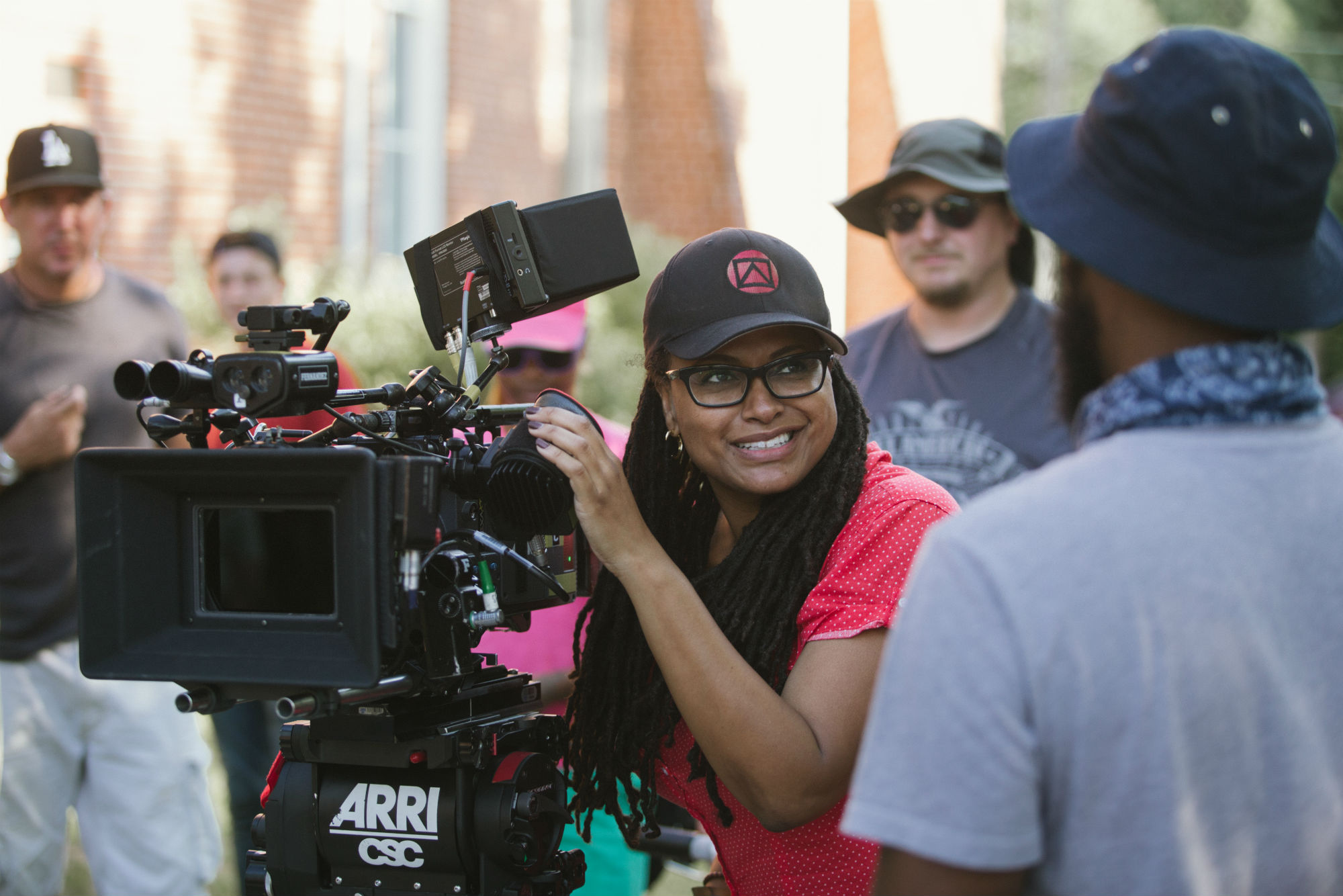 Director Ava DuVernay on the set of  Selma  - image via  Google .