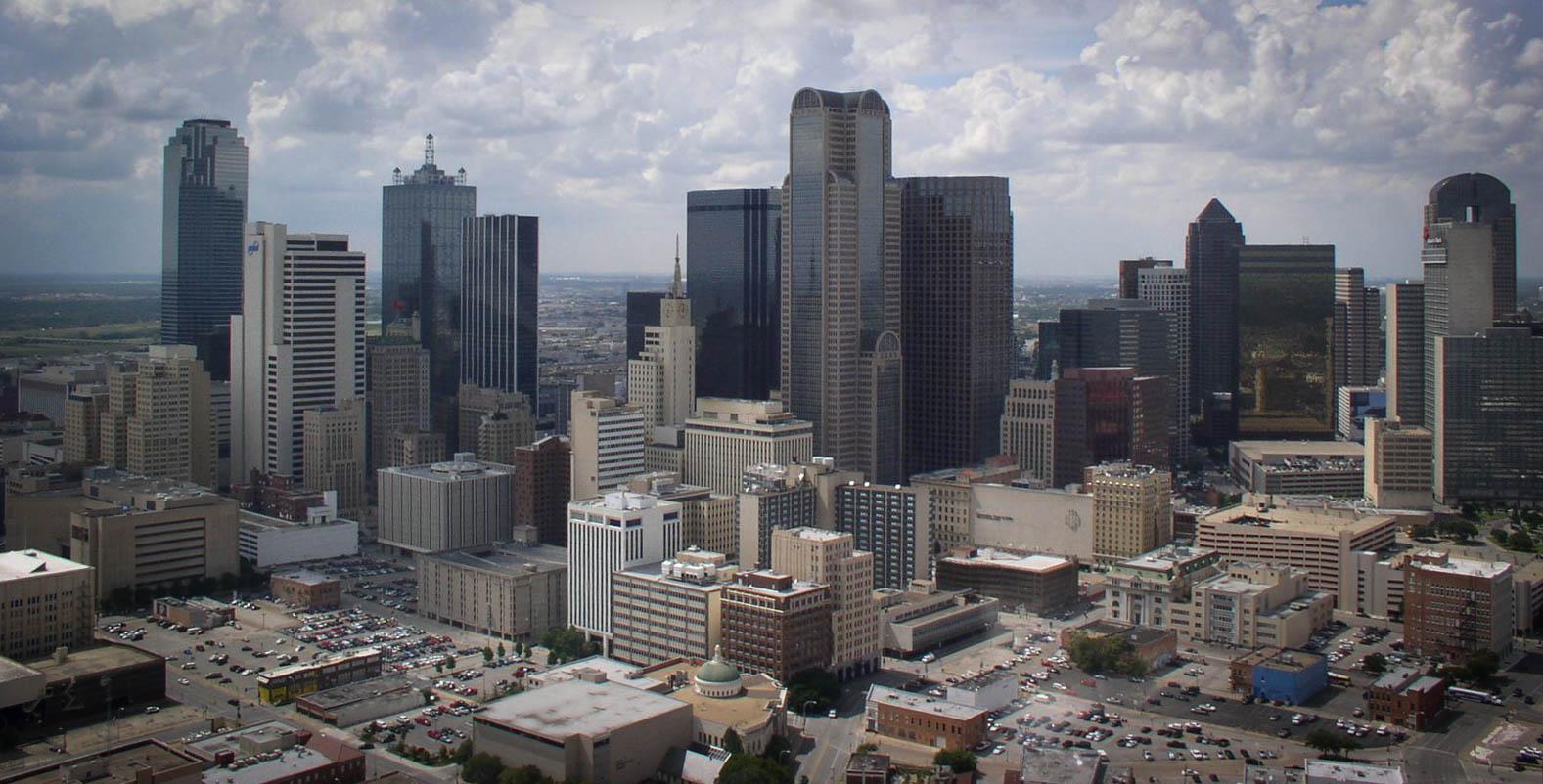 "Dallas's urban cityscape could stand in for ""Anycity, USA"" - image via the  Dallas Film Commission ."