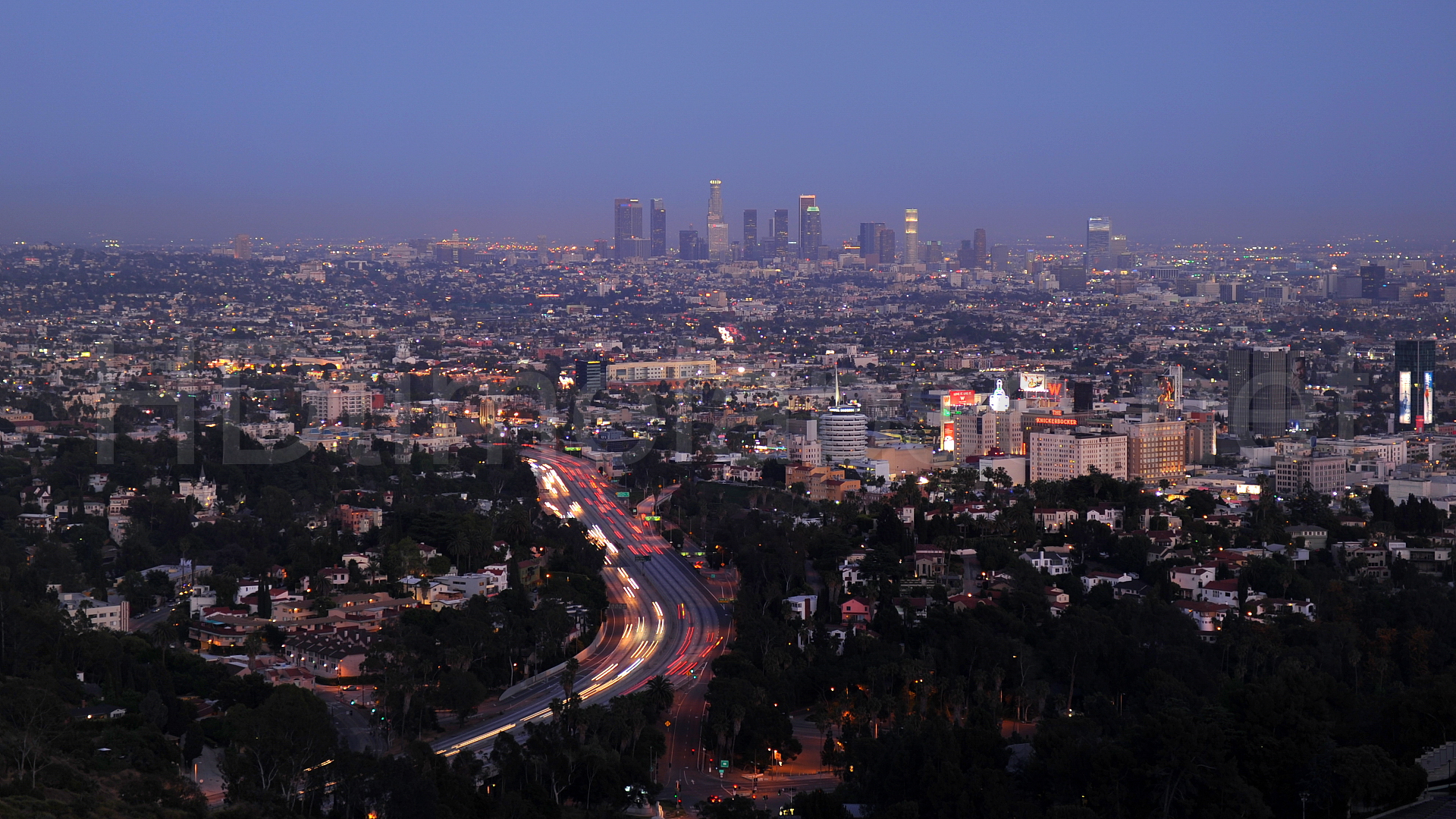View of Los Angeles from Mulholland Drive - image via  Google .