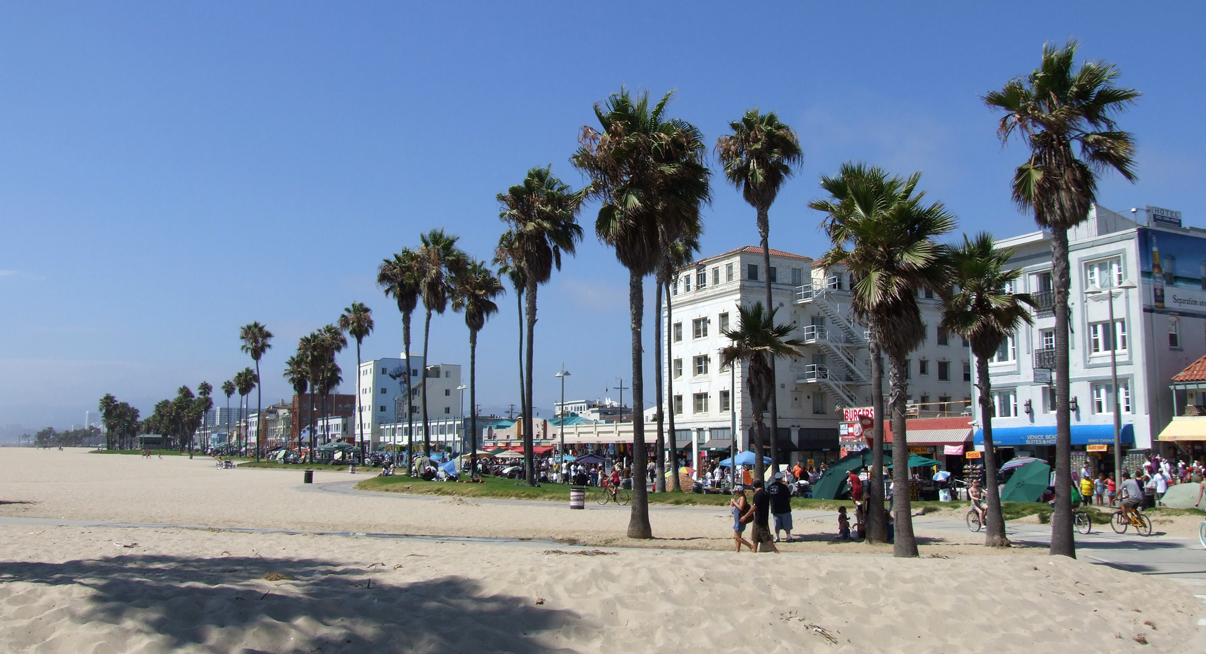 Venice Beach in Los Angeles, CA - where Nightcrawler was filmed. Image via  Google .