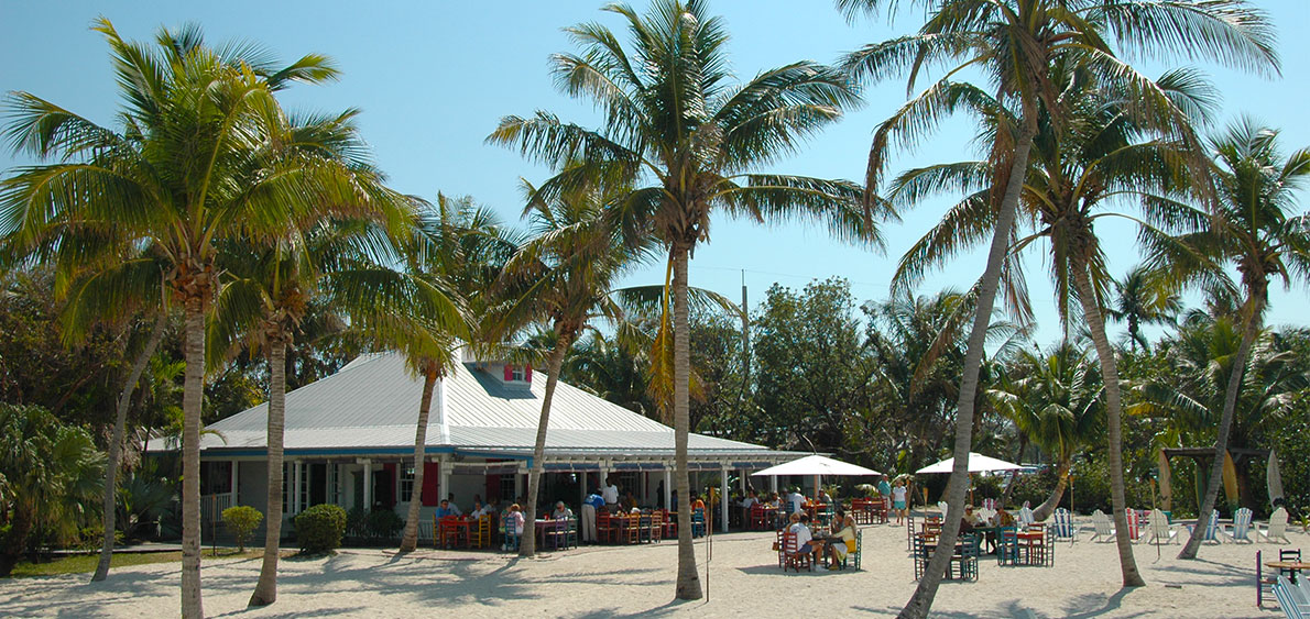 The Beach Cafe at Morada Bay, one of the film locations of Bloodline - image via  The Moorings Village & Spa's website .