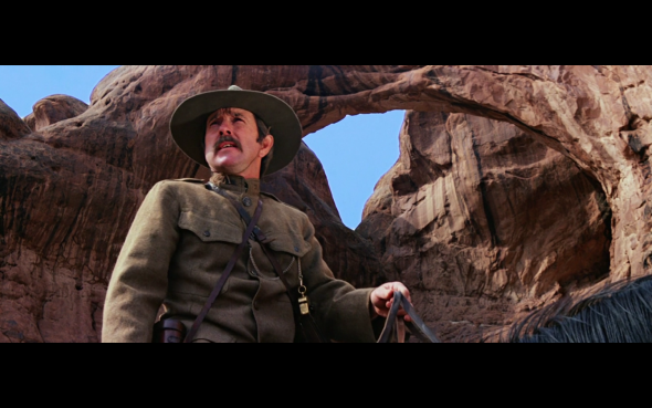 Screenshot of a scene from  Indiana Jones And The Last Crusade  filmed at the Double Arch in the Moab.