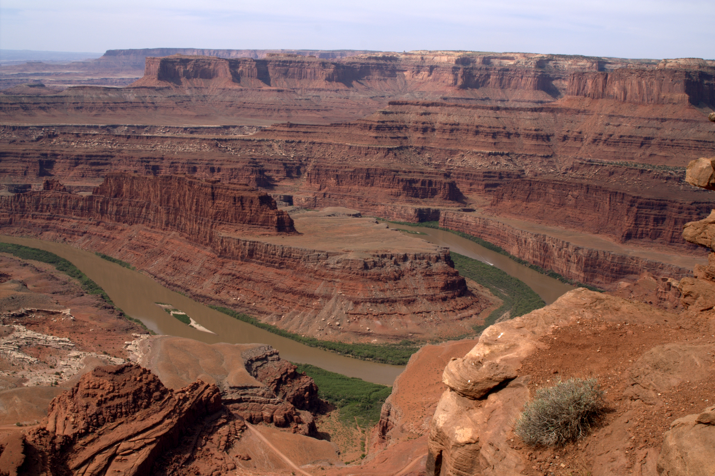 Moab's Dead Horse Point, a dramatic landscape featured in the final scene of  Thelma & Louise  - image via  Google .