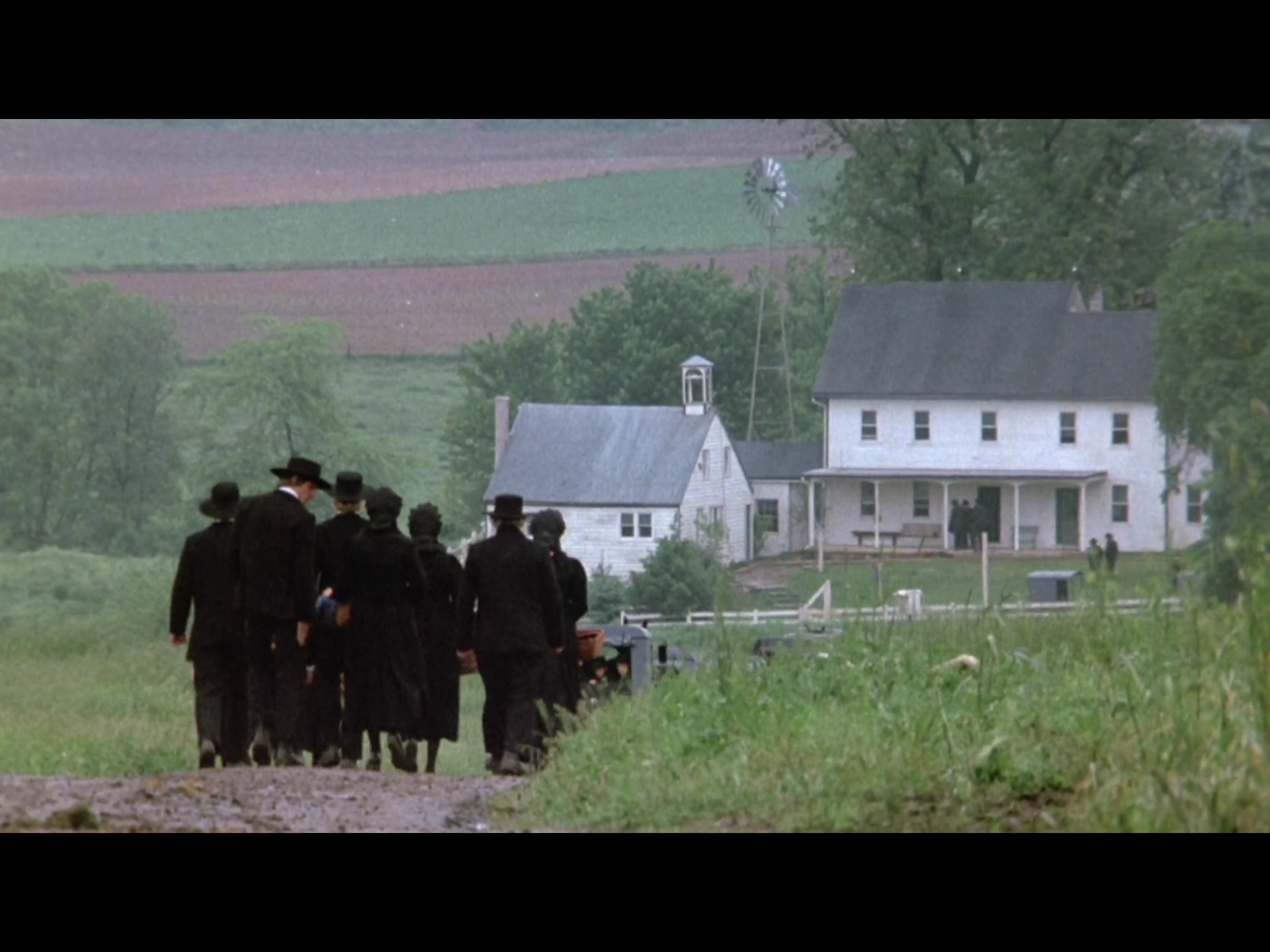 Screenshot from  Witness  (1985) filmed on Paul Krantz Farm in Strasburg, Pennsylvania.