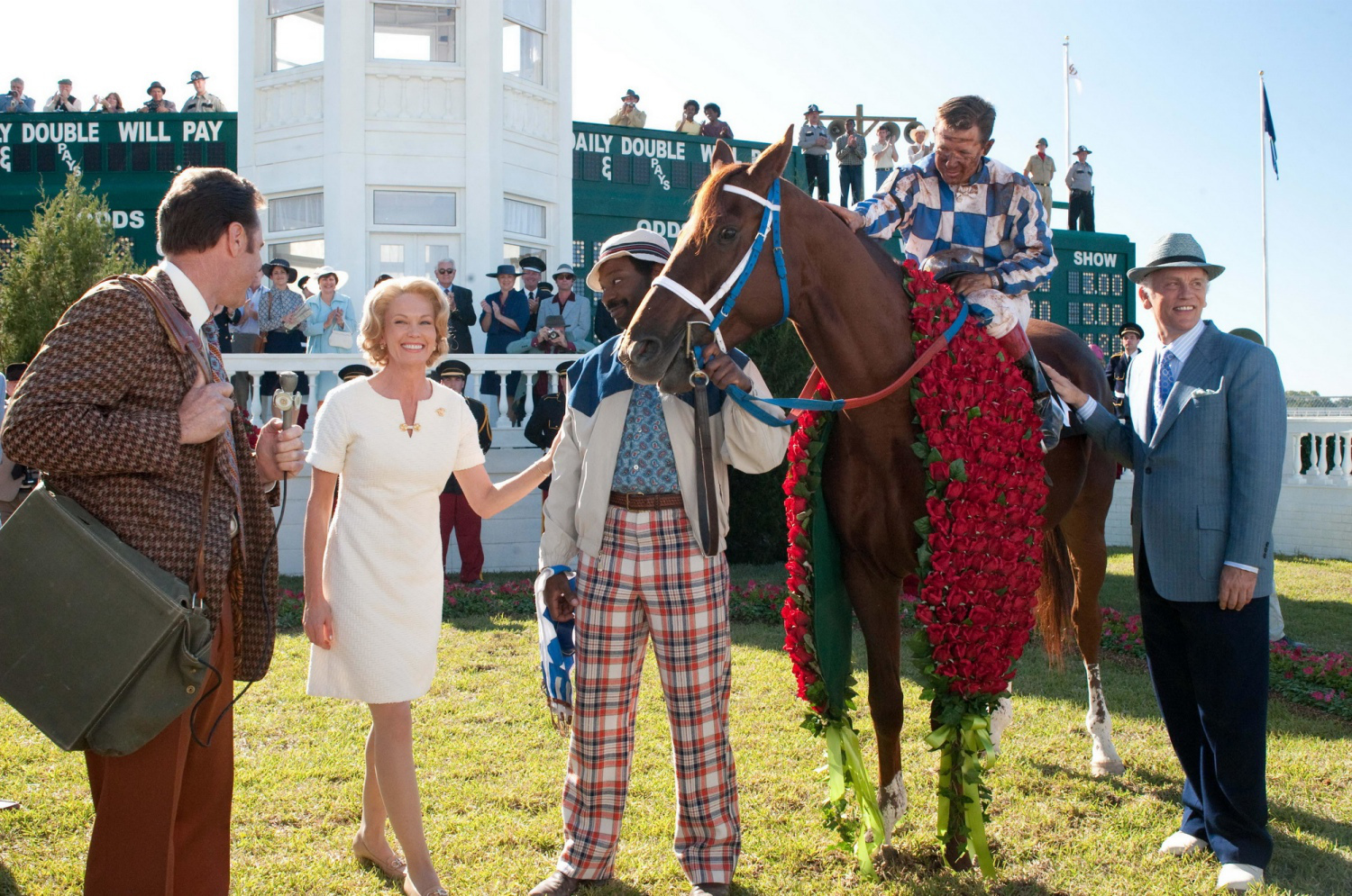 Production still of   Secretariat   (2010) ,  filmed on location at  Churchill Downs Race Track  in Kentucky - image via  Google .