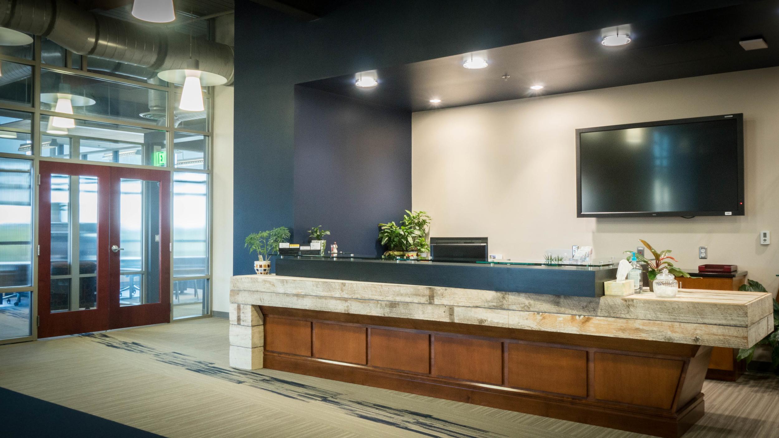 Third floor reception area of Building on Baldwin.