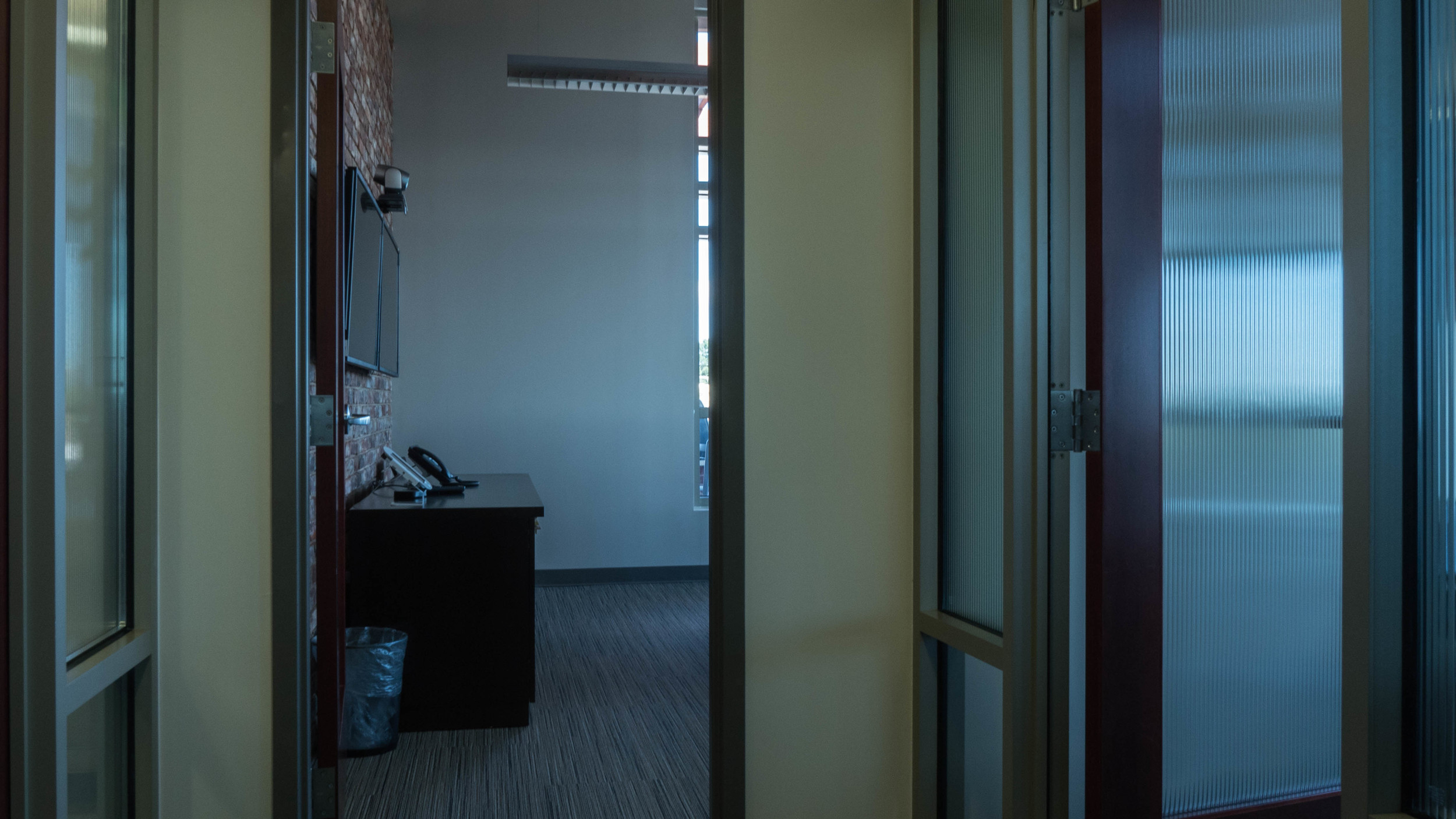 Entrance to a corner office on the third floor.