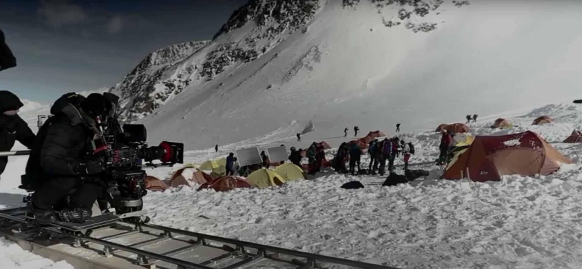Behind-the-scene on the set of  Everest  - screenshot via  YouTube .
