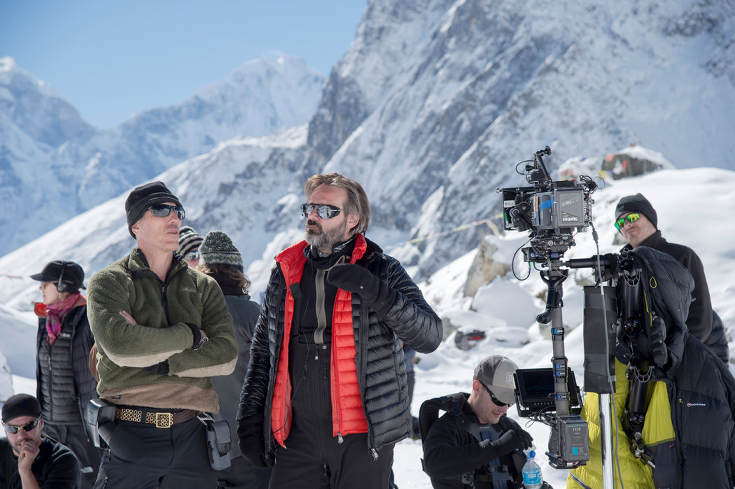 Everest's cinematographer Salvatore Totino (left) and director Balthasar Kormakur (right) - image via   New York Times  .