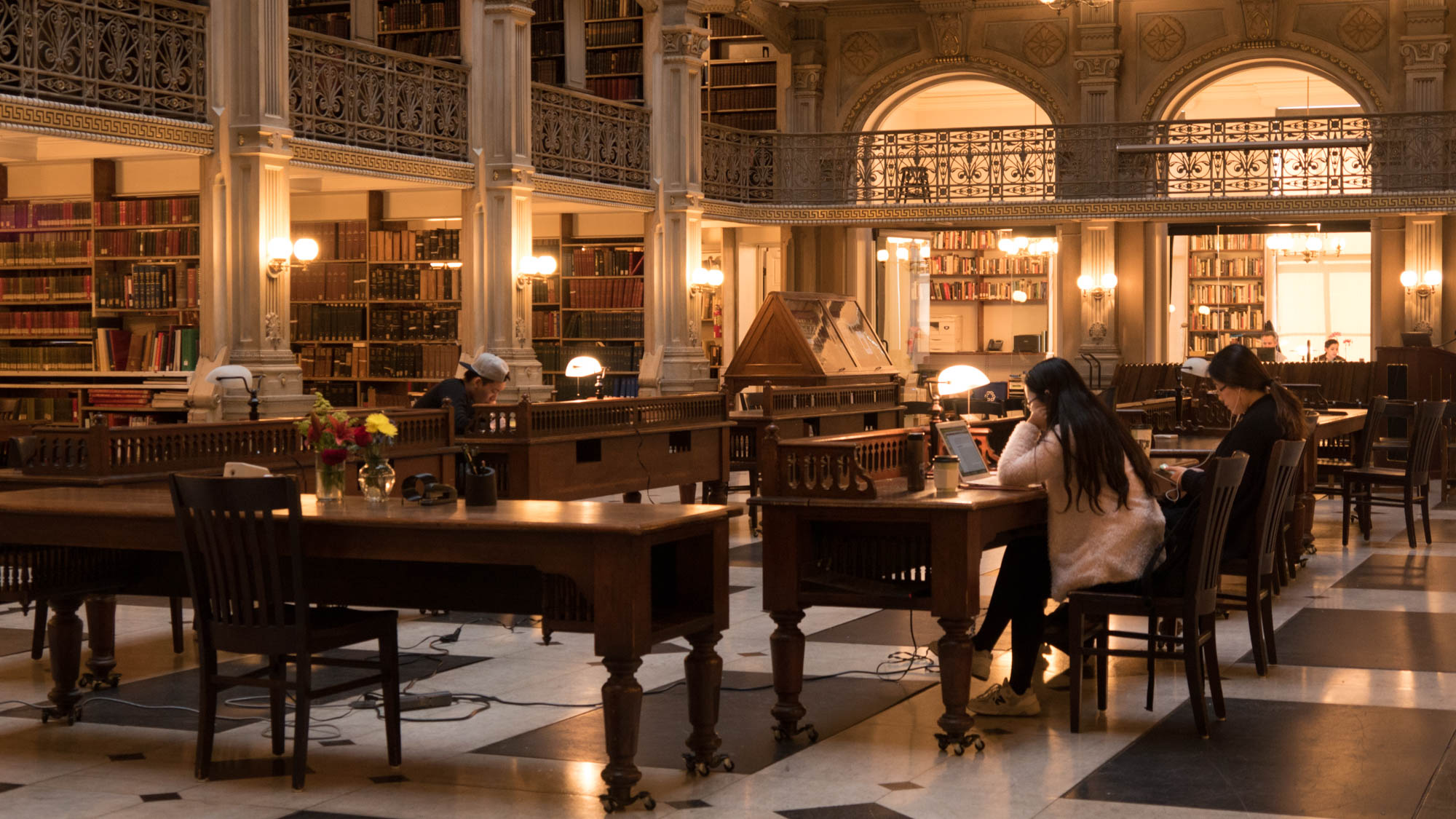 The George Peabody Library is free for the public to use every day, in accordance with Mr. Peabody's gifting terms.