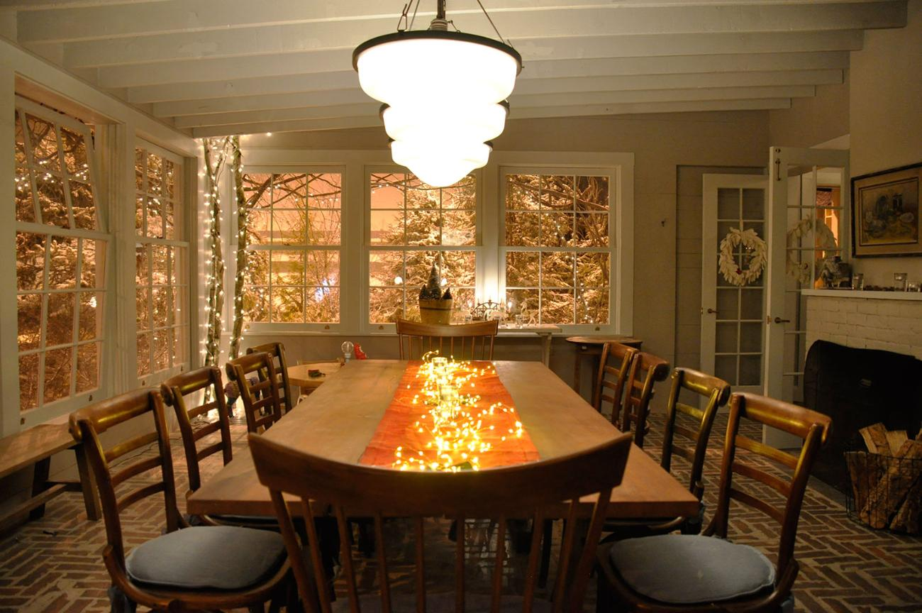 The interior of the Coopers' home - inspired by snow globes. (Image via  Google .)