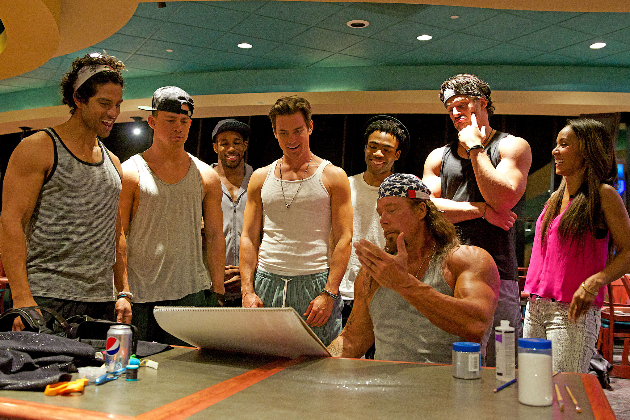 Production still from  Magic Mike XXL , filmed partly in Savannah (image via  Google ).