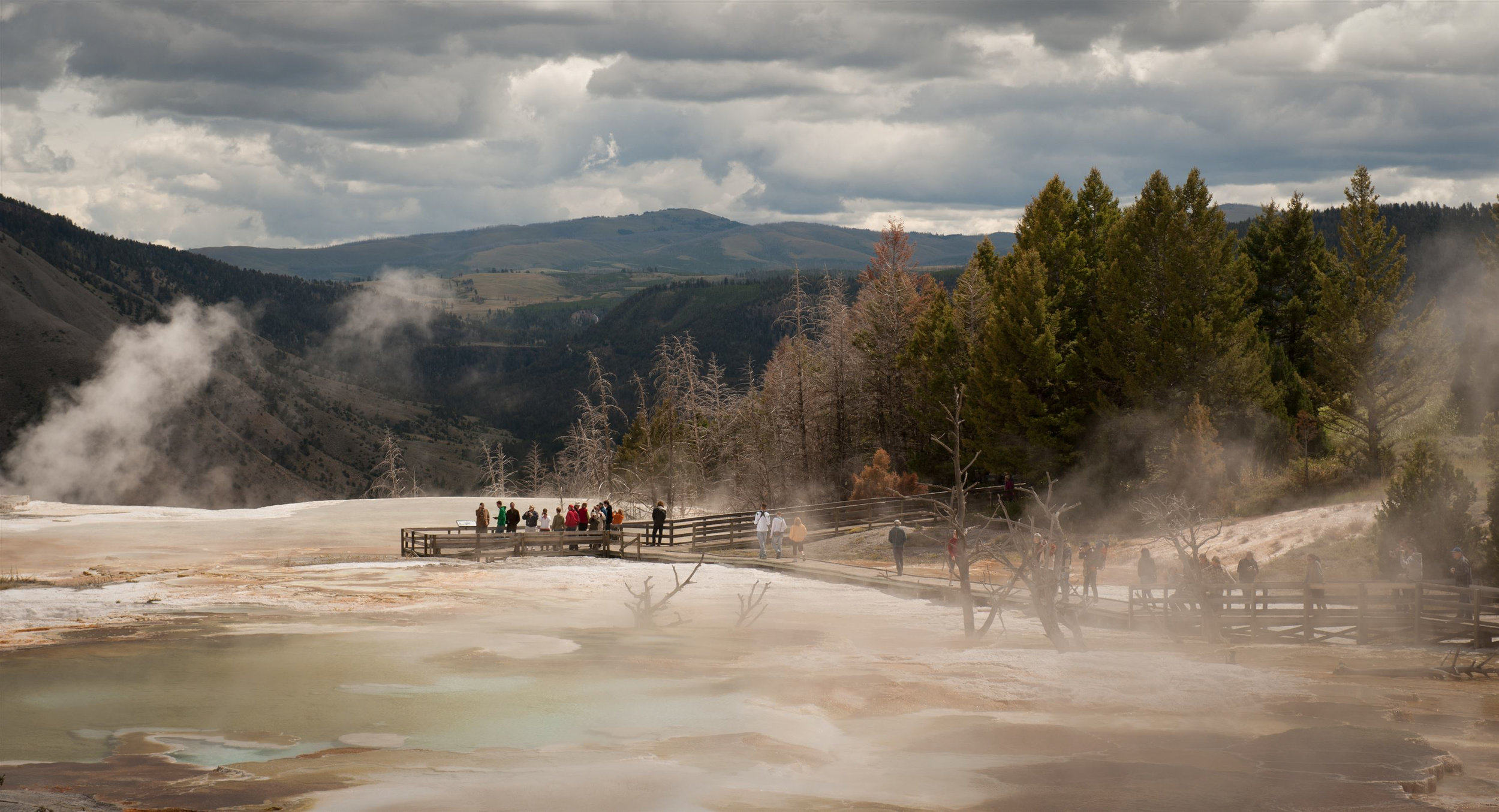Yellowstone National Park has been the setting for many movies including Star Trek: The Motion Picture, Samsara, Heart of Glass, The Big Trail, and The Mountain Men.