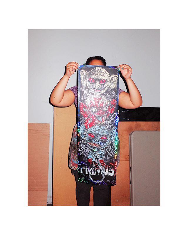 12x36 6 colors On Lava foil  Artist : Rhys Cooper @studioseppuku  #primus #primussucks #lesclaypool #bassguitar #porksoda #rhinoplasty #suckonthis #gigposter #gigposters #limitededition #goblins #rainbow #desaturatingseven #australiantour #illustration #art #poster #seizurepalace #screenprinting #artprint #screenprinted #posters