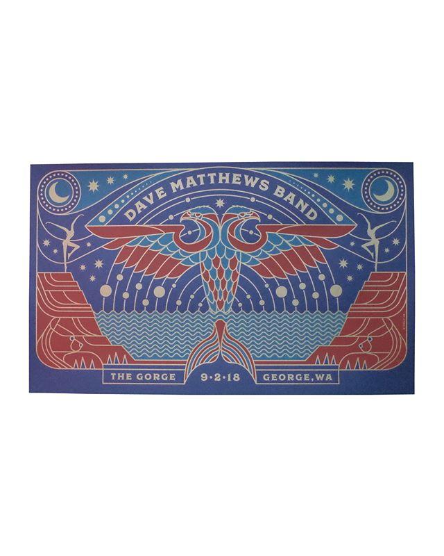 14.38x24 3 colors  On 100# Strathmore Blazer Blue  Artist : @briansteely Brian Steely  #steelyworks #davematthewsband #seizurepalace #screenprinting #artprint #screenprinted #posters #portland