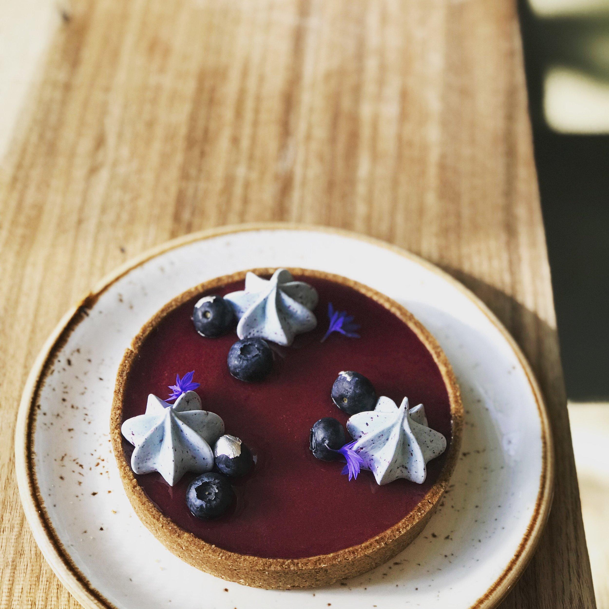 blueberry lavender tart