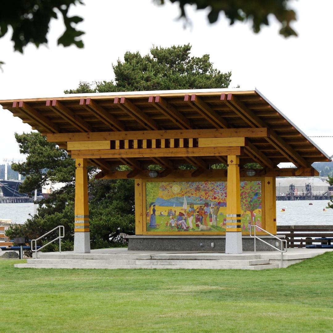 Timber Park Pavilion on Bellingham Waterfront