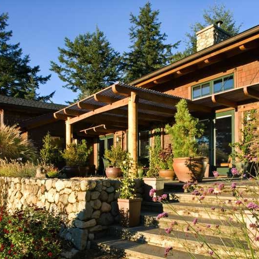 Timber Frame and Log Home on San Juan Island, Washington