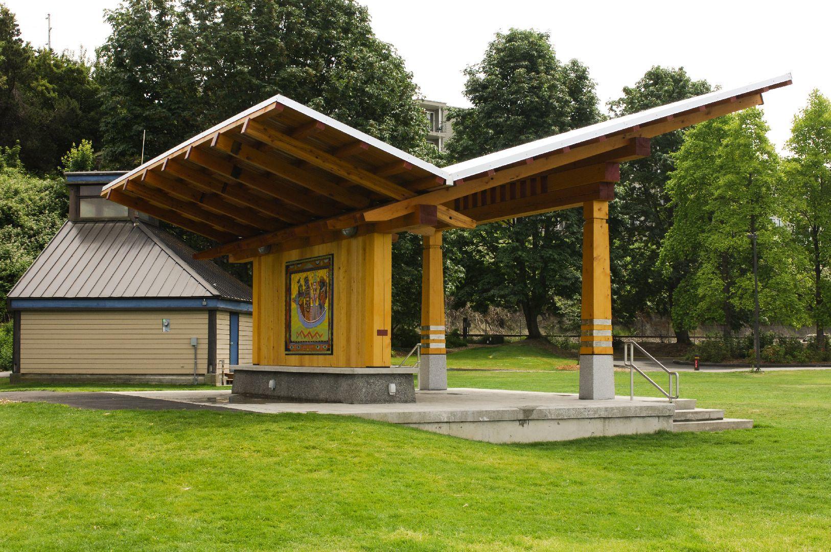 Bellingham Timber Frame Pavilion - Side View