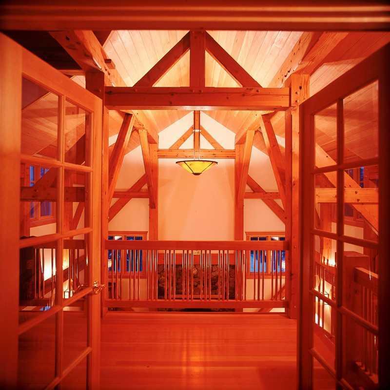 Modern Timber Frame Home - Interior Beams