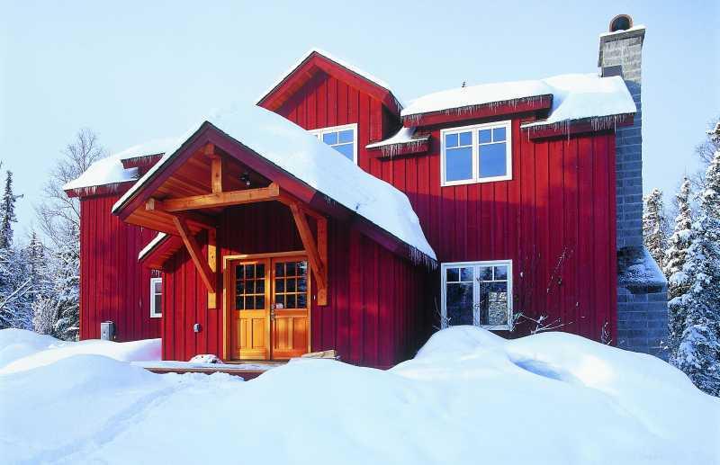 Modern Timber Frame Home - Exterior View