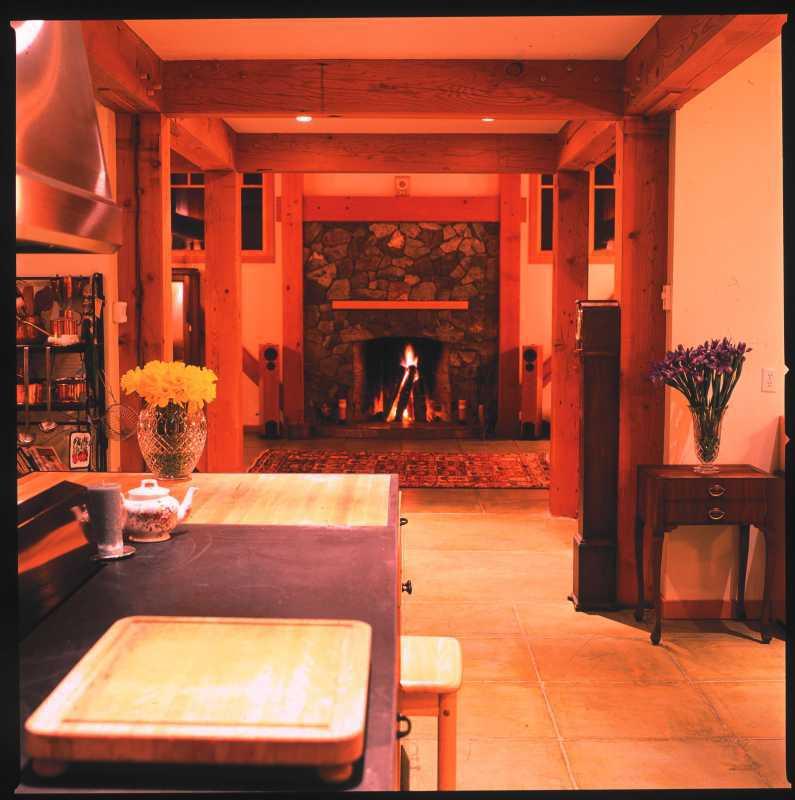 Modern Timber Frame Home - Living Room